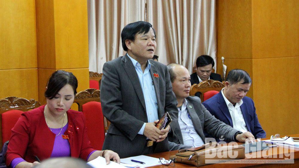 Kỳ họp thứ 9, HĐND tỉnh Bắc Giang: 'Nóng' thảo luận tổ về môi trường